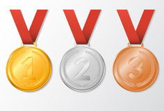 Set award medals Stock Photo