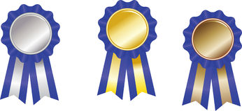 Set  award ribbons Royalty Free Stock Photo