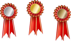 Set  award ribbons Royalty Free Stock Photography