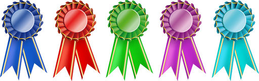 Set  award ribbons Royalty Free Stock Images