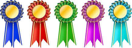 Set  award ribbons Stock Image