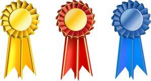 Set  award ribbons Royalty Free Stock Photography
