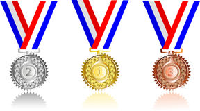 Set  award ribbons Stock Photo