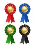 Set of award rosette Royalty Free Stock Image