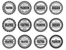 Set award stamp for design studios Stock Photography