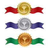 Set of awards Stock Image