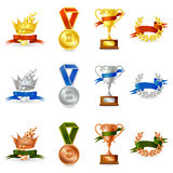 Set of awards and medals Stock Photo