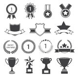 Set of Awards Prizes and Trophy Designs Stock Image
