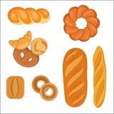 Set Bäckereiprodukte Stockfotografie