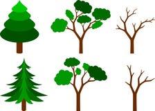 Set Bäume Lizenzfreie Stockbilder