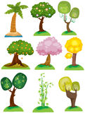 Set Bäume Stockfotos