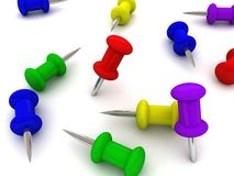 Set Büro-Stifte Lizenzfreies Stockfoto