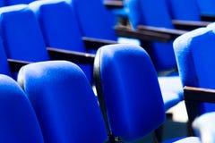 Set błękitów krzesła w sala Zdjęcie Stock