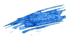 Set błękitna farba, atrament, grunge, brudni muśnięć uderzenia Obrazy Royalty Free