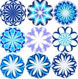Set błękitni kwiaty Obraz Stock