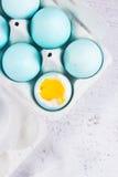 Set błękitni Wielkanocni jajka Zdjęcia Stock