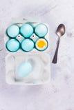 Set błękitni Wielkanocni jajka Obraz Stock