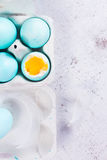 Set błękitni Wielkanocni jajka Obraz Royalty Free