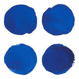 Set błękitny inky sztandar akwareli punkt Zdjęcia Stock
