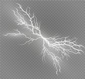 Set błyskawicowa magia i jaskrawi lekcy skutki również zwrócić corel ilustracji wektora Rozładowanie elektryczny prąd Ładunku prą royalty ilustracja