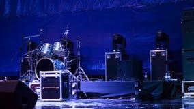 Set bębeny na scenie Obraz Royalty Free