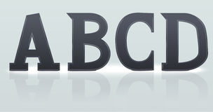 Set of  A B C D. Plastic letters Royalty Free Stock Photography