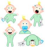 Set of babies. Isolated on white Royalty Free Stock Image
