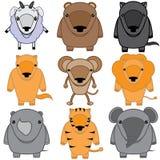 Set of baby animals cartoon Stock Photography