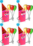 Set of baby birthday book Royalty Free Stock Photography