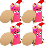Set of baby book as Santa Claus with a big sack Royalty Free Stock Photo