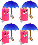 Set of baby book with umbrella Royalty Free Stock Photography