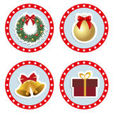 Set baby Christmas stickers. Collection of badges labels Royalty Free Stock Image