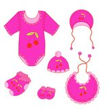 122a set of baby clothes for girl in vector. A set of baby clothes for boy in vector EPS 10 vector illustration