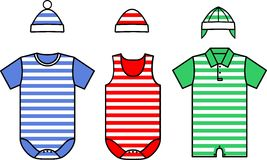 Set of the Baby clothes. Vector Stock Photos