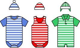 Set of the Baby clothes. Vector Stock Photos