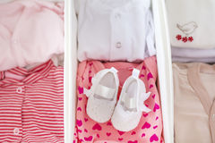 Set of baby clothes stock photography
