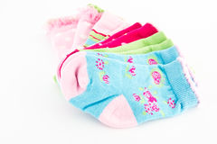 Set of baby colorful socks Royalty Free Stock Photography
