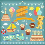 Set baby design elements. Royalty Free Stock Photography