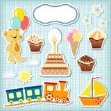 Set baby design elements. Royalty Free Stock Photo