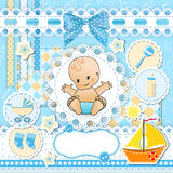 Set baby design elements. Stock Photo