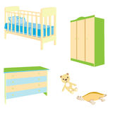 A set of baby furniture Stock Images