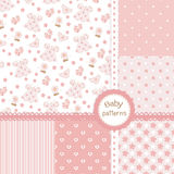 Baby girl seamless patterns Stock Photo