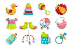 Set of Baby Icon Stock Image
