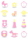 Set of baby icons Royalty Free Stock Photo