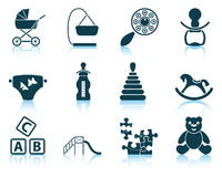 Set of baby icons. Royalty Free Stock Photo