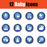 Set of baby icons. Stock Image