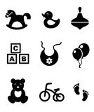 Set of baby icons Stock Images