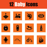 Set of baby icons Stock Photos