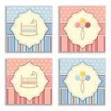 Set of baby invitation cards Royalty Free Stock Images