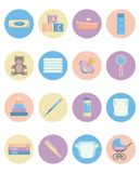 Set of baby items Royalty Free Stock Photos